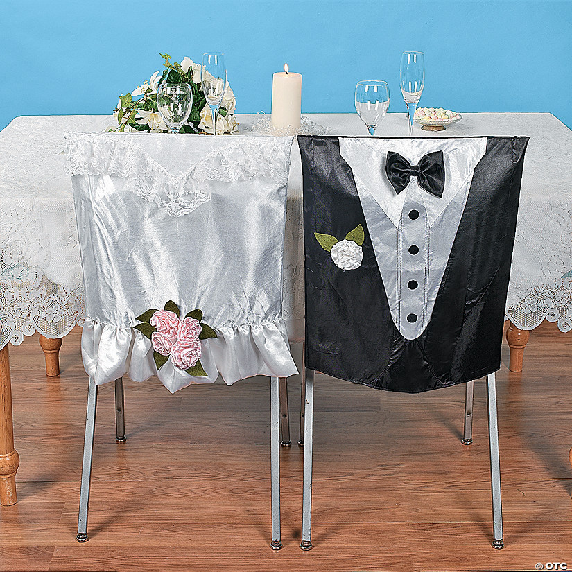 wedding chair covers for bride and groom patio with attached umbrella discontinued