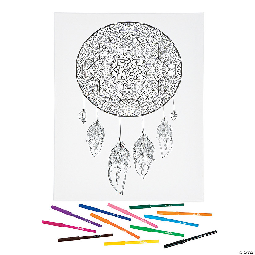 Dreamcatcher Coloring Canvas Kit