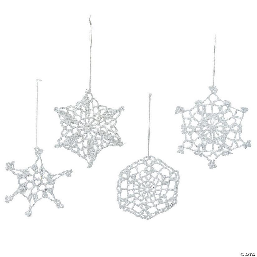 Hand-Crocheted Snowflake Christmas Ornament Assortment