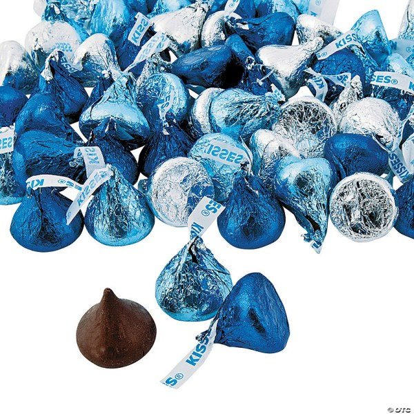 Hersheys Kisses Blue Silver Chocolate Candy