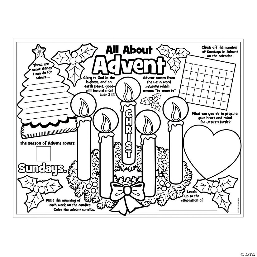 """Paper Color Your Own """"All About Advent"""" Posters"""