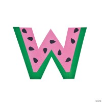 W Is For Watermelon Lowercase Letter W Craft Kit
