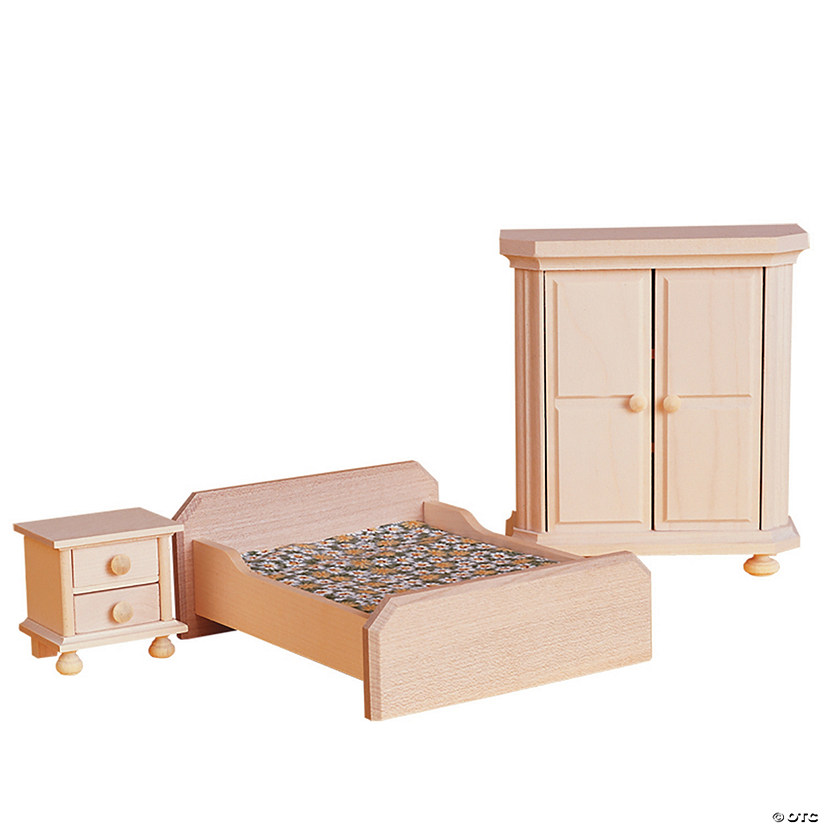 Wooden Dollhouse Bedroom Furniture Set  MindWare