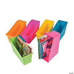 Classroom Organizer Chair Covers Solid Oak Dining Table And Chairs Storage Oriental Trading Company Neon Book Organizers
