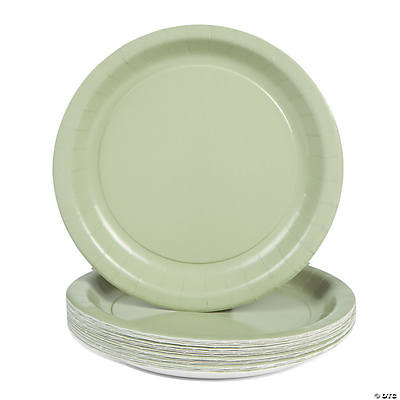 24 Solid Color Paper Plates