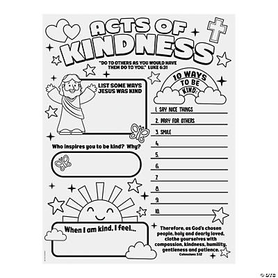 Color Your Own Acts of Kindness Posters