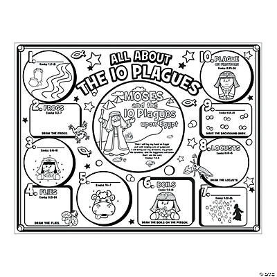 """Color Your Own """"All About The 10 Plagues"""" Posters"""