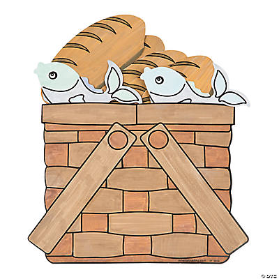 Color Your Own Loaves Amp Fishes Basket