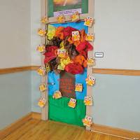 Fall Tree Door Decoration Idea