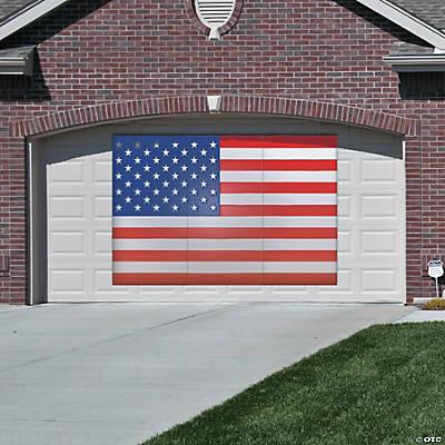 plastic american flag backdrop