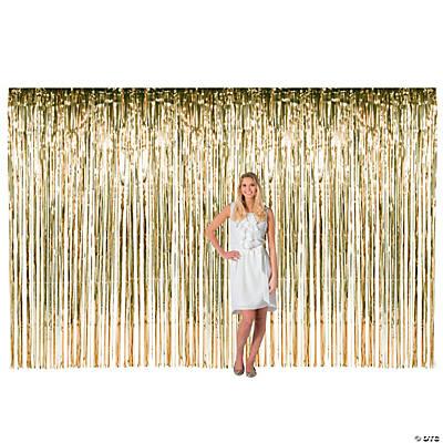 Gold Large Fringe Door Curtain