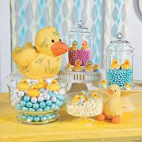 Rubber Duckie Baby Shower Candy Buffet Idea