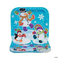 Snowman Dinner Plates - Oriental Trading - Discontinued