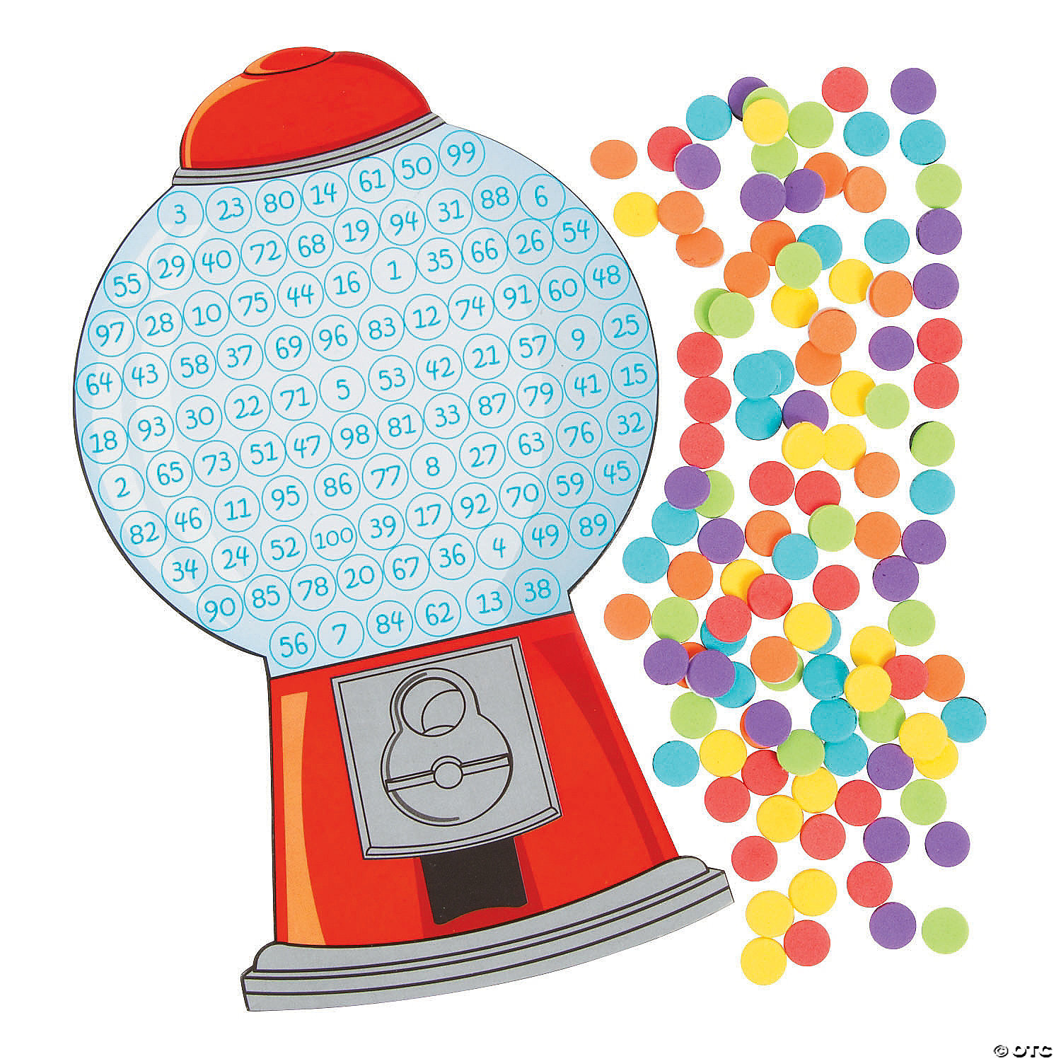 hight resolution of  count to 100 gumball machine craft kit image thumbnail 2