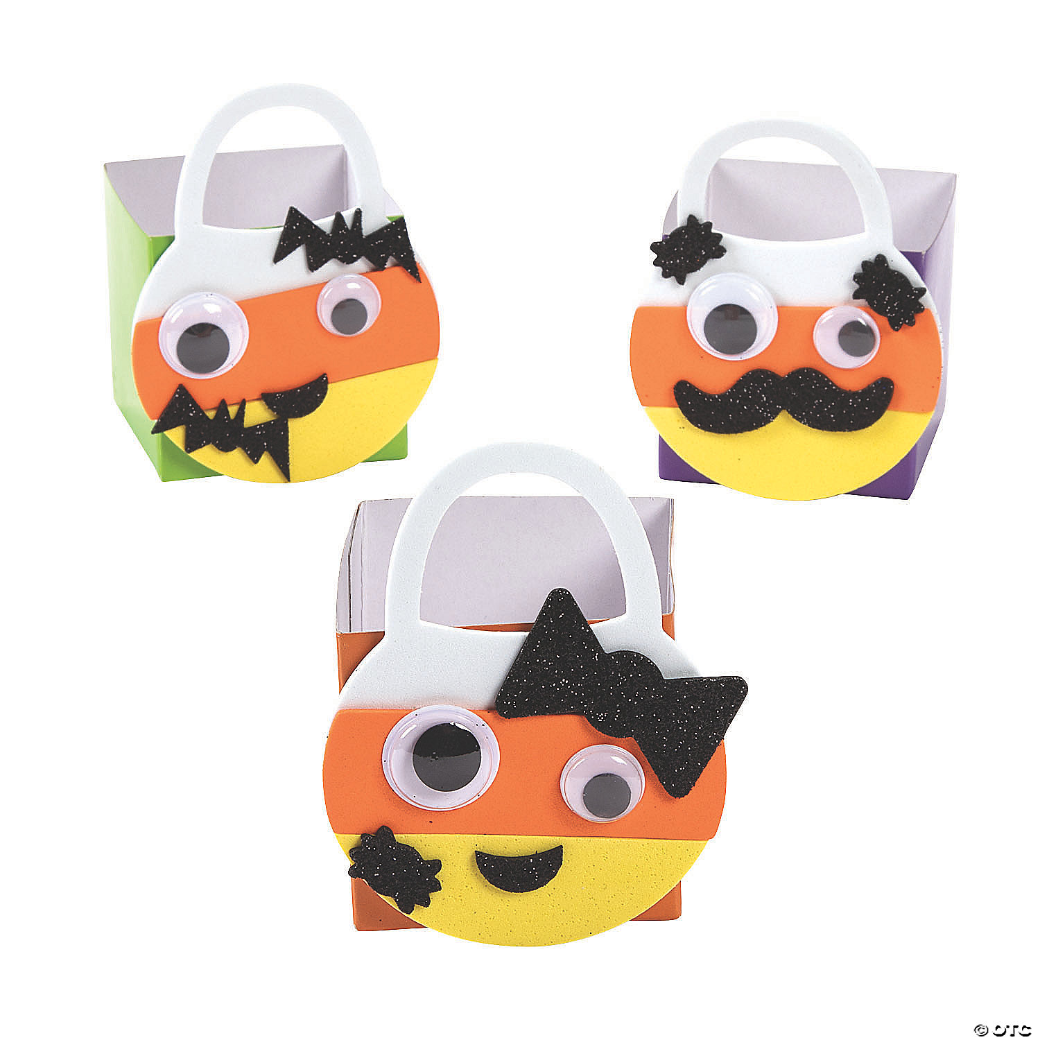To get started making the exterior part of the candy corn tote bag, pin together the two 5×14 orange … Mini Candy Corn Glitter Treat Bag Craft Kit Oriental Trading