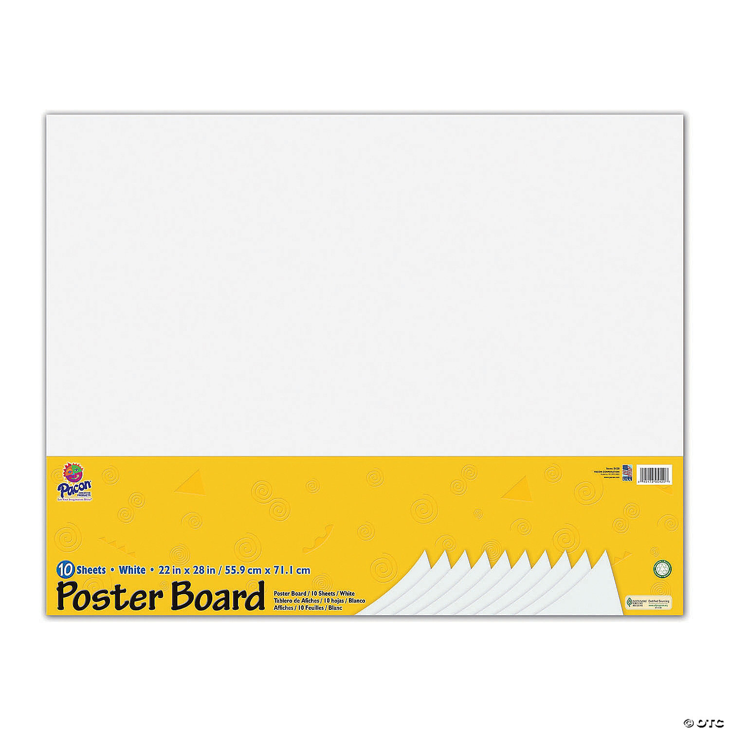 poster board white 22 x 28 10 sheets per pack 3 packs