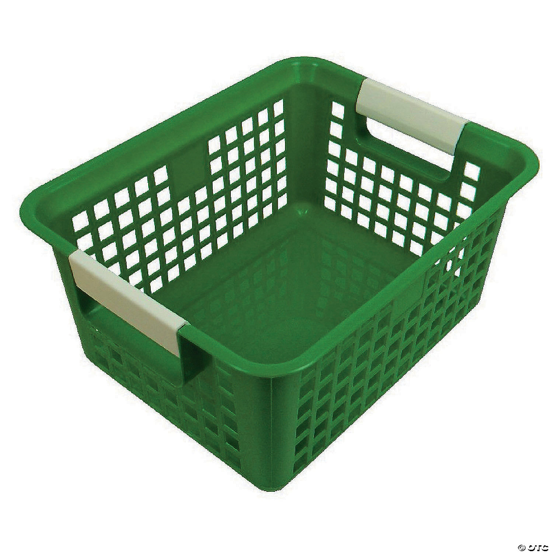Tattle Book Basket Green Set Of 3 Oriental Trading