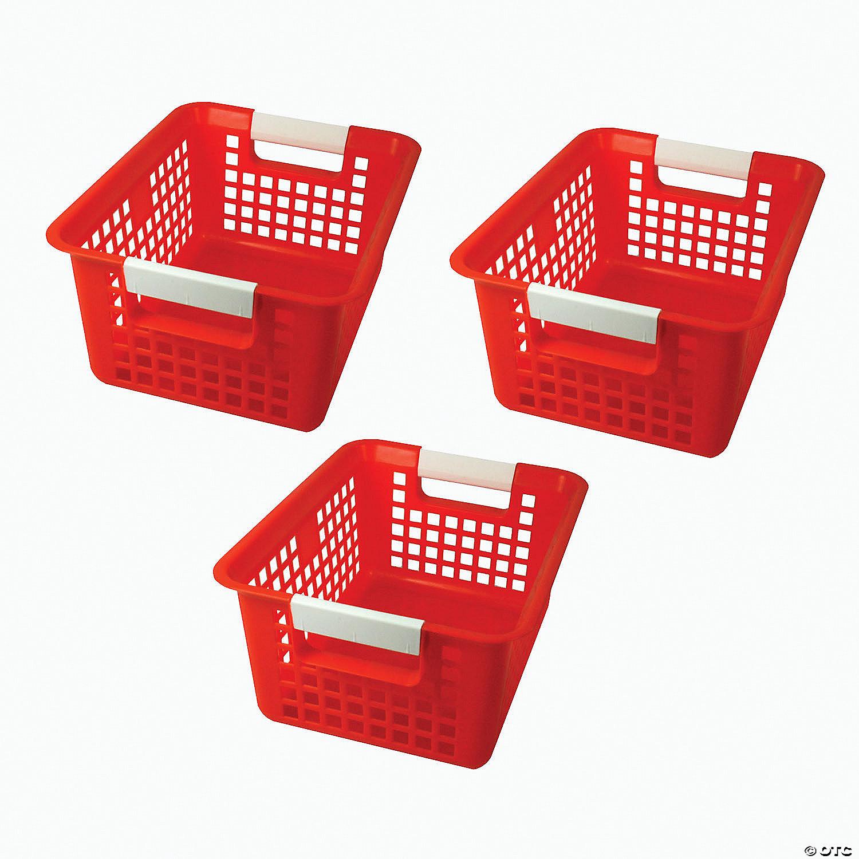 Tattle Book Basket Red Set Of 3 Oriental Trading