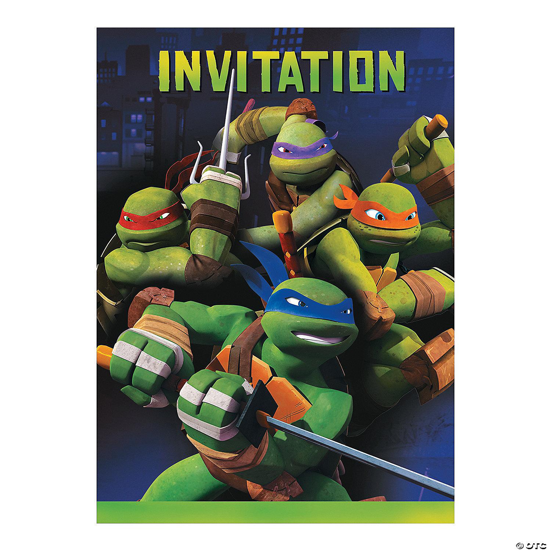 teenage mutant ninja turtles party invitations