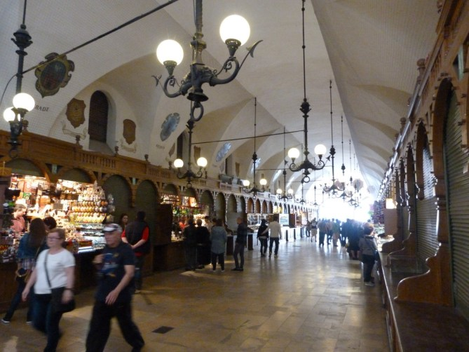 Inside Cloth Hall Krakow Poland Krakow Historic Centre