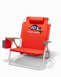 Solid-Red Deluxe Backpack Beach Chair