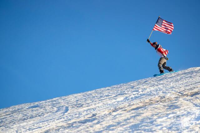 Mammoth Mountain snowboarding spring winter California