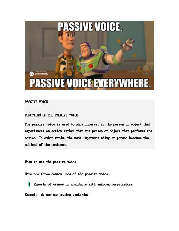 Passive Voice PASSIVE VOICE   Kiosque de Joomag