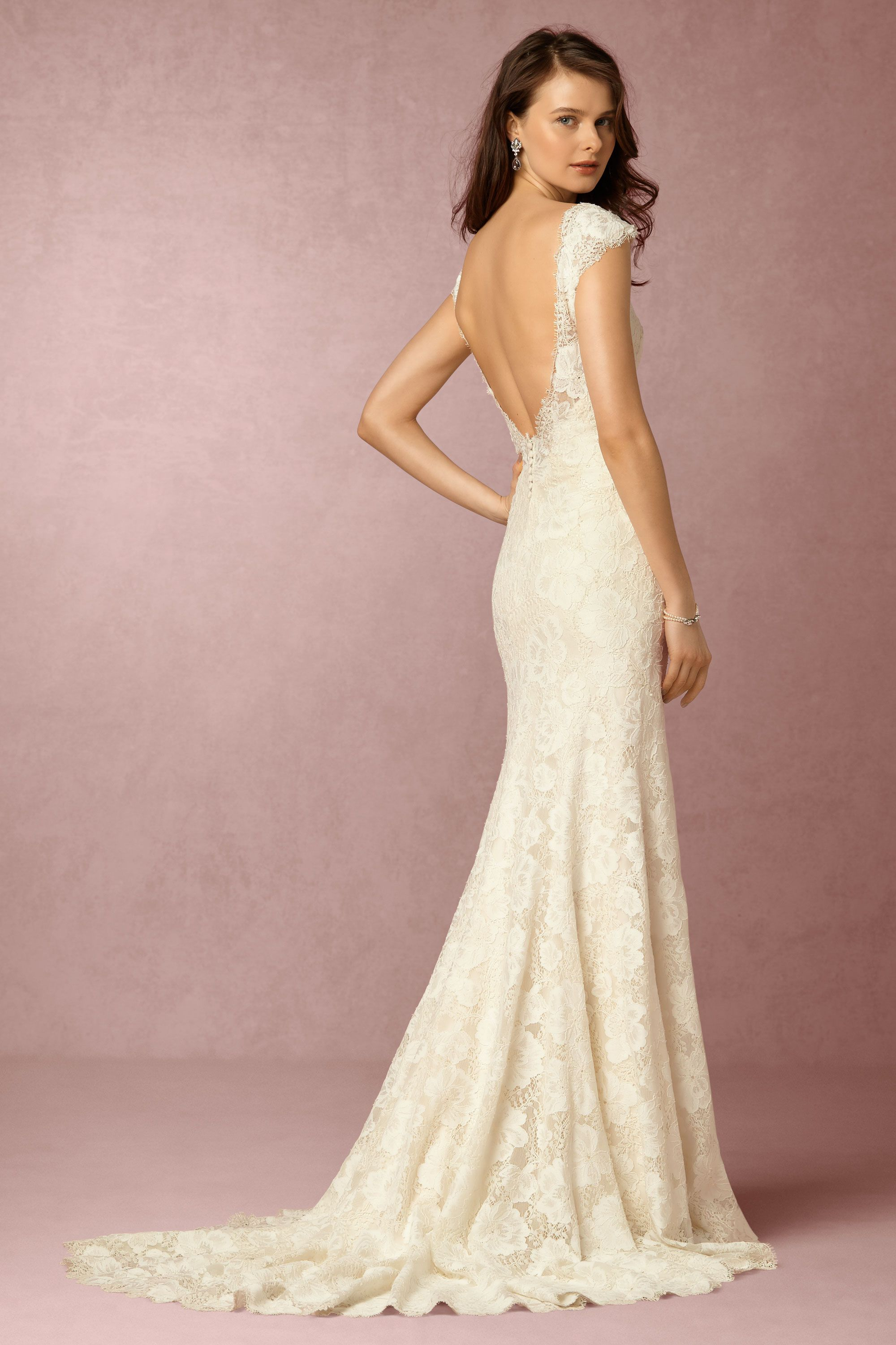 Backless Wedding Gown Dress