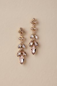 Gold Crystal Earrings Catherine Popesco Small Gold ...