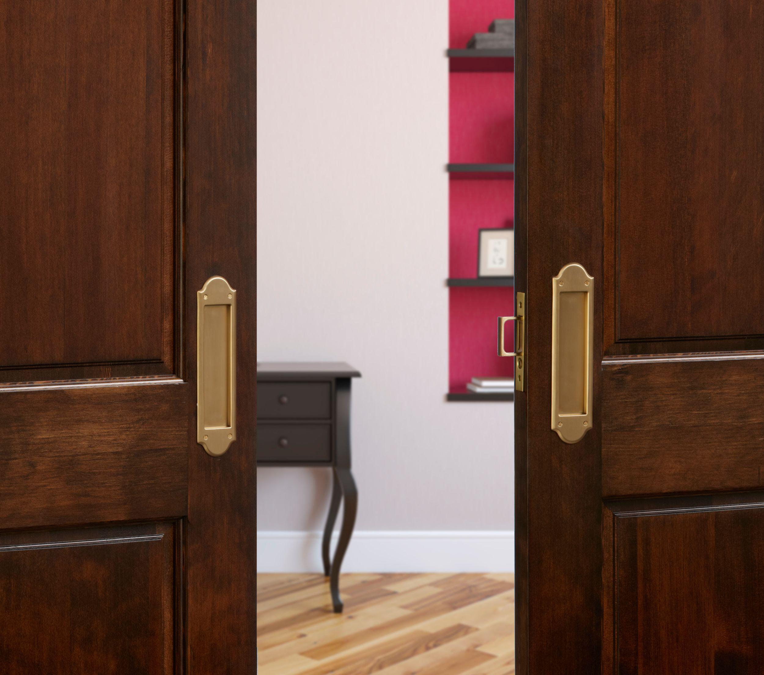 Converging Pocket Doors Home Design Ideas