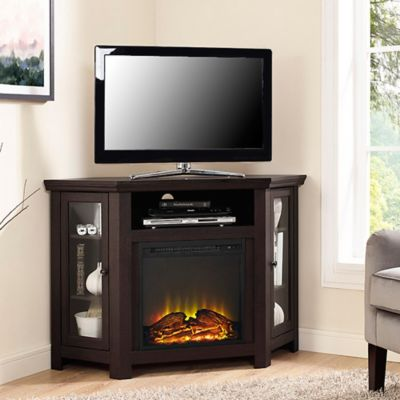 Buy Walker Edison 48Inch Corner Fireplace TV Stand in Espresso from Bed Bath  Beyond