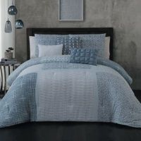 Buy Steve Madden Talia 6-Piece Queen Comforter Set in Blue ...
