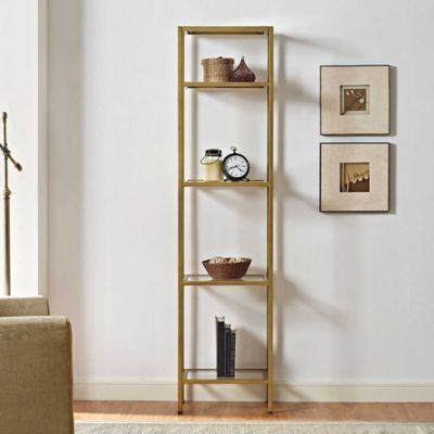 Crosley Aimee Narrow Etagere In Gold Bed Bath Amp Beyond