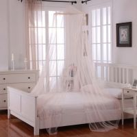 Buy Oasis Round Hoop Sheer Bed Canopy in Pink from Bed ...