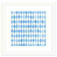 Buy Geometric Watercolor Wall Art in Blue from Bed Bath ...