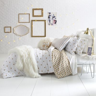 living room ideas cream and grey sofa designs for small india glam polka dot reversible comforter set - bed bath & beyond