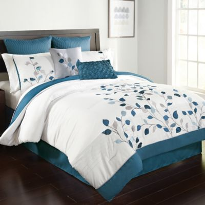 personalized kitchen gifts kraftmaid cabinet prices michela comforter set in petrol - bed bath & beyond