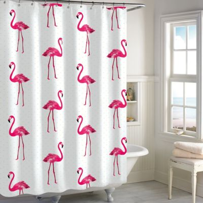 brand new kitchen cost cheap accessories flamingo shower curtain in pink - bed bath & beyond