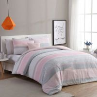 VCNY Home Stockholm Comforter Set in Pink/Grey