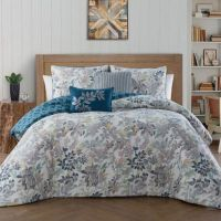 Buy Cali Reversible 5-Piece King Comforter Set in Teal ...