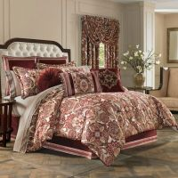J. Queen New York Rosewood Comforter Set in Burgundy - Bed ...