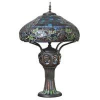 Hampstead Turtleback 4-Light Multicolor Table Lamp with ...