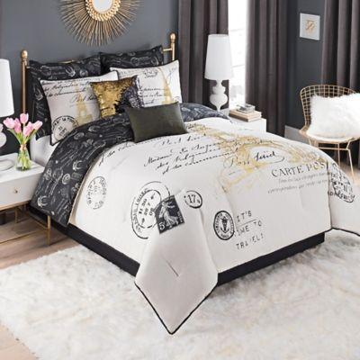 Paris Gold Comforter Set