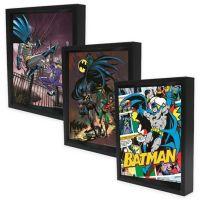 DC Comics Batman Framed 3D Lenticular Shadowbox Wall Art ...