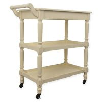 Buy Decor Therapy Portable Bar Cart in White from Bed Bath ...