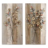 "Stylecraft ""Bouquet"" Wood and Metal Wall Art Collection"