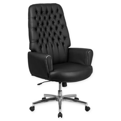 traditional leather office chair Flash Furniture Traditional Leather High Back Office Chair - Bed Bath & Beyond