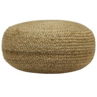 Decor Therapy Natural Jute Woven Pouf Ottoman - Bed Bath ...
