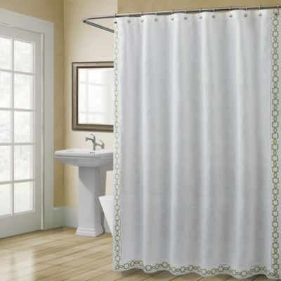 Buy Croscill Landon 54Inch x 78Inch Stall Size Shower Curtain in Green from Bed Bath  Beyond