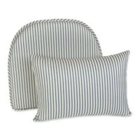 Buy Klear Vu Ticking Stripe Gripper Chair Pad and Lumbar ...